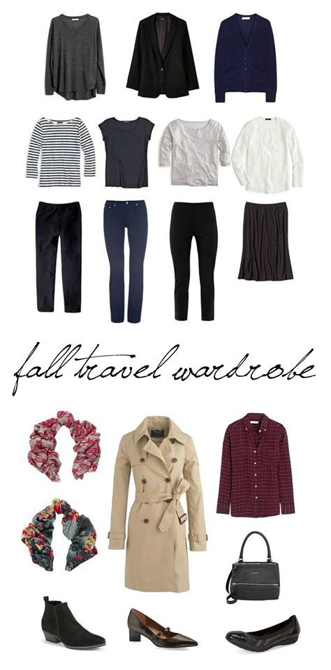 in the fall travel wardrobe une femme d un