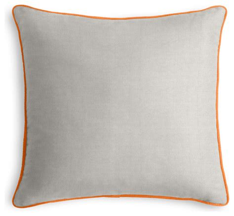 Grey Outdoor Pillows by Grey Outdoor Pillow With Orange Cord Outdoor Cushions