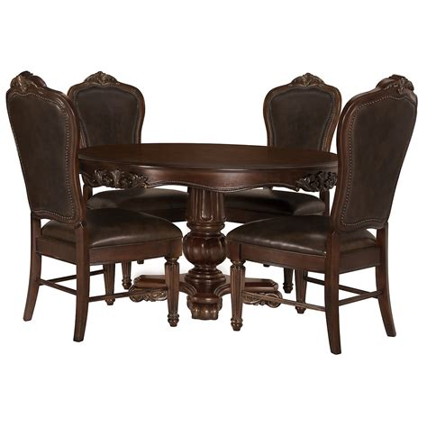 city furniture regal tone table 4 leather chairs