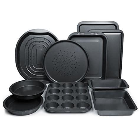 ChefLand 10 Piece Non Stick Bakeware Set, Oven Crisper