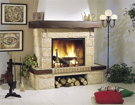 chimenea madera chimenea revestimiento de piedra y madera chimeneas
