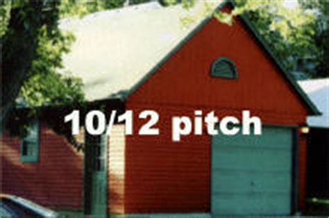 garage roof pitch