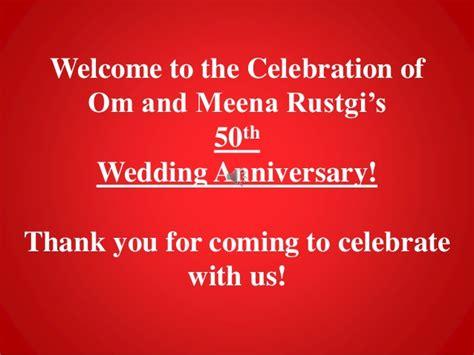 Anniversary Slideshow 50th Wedding Anniversary Slideshow