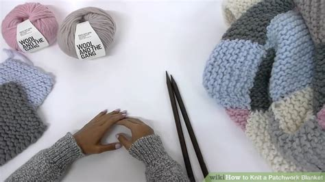 Knitting A Patchwork Blanket by How To Knit A Patchwork Blanket With Pictures Wikihow