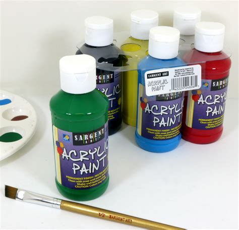 22 4806 sargent primary acrylic paint set