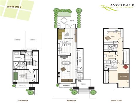 4 Bedroom 1 Story House Plans modern townhouse floor plans 3 story townhouse floor plans