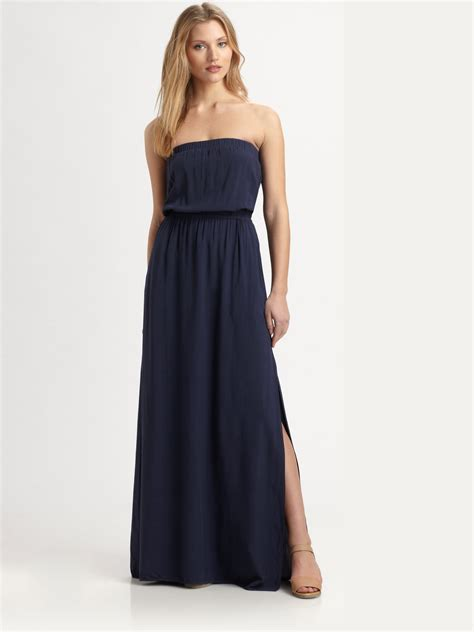 Dress Maxi Dress Wanita Maxi 1 lyst splendid strapless maxi dress in blue