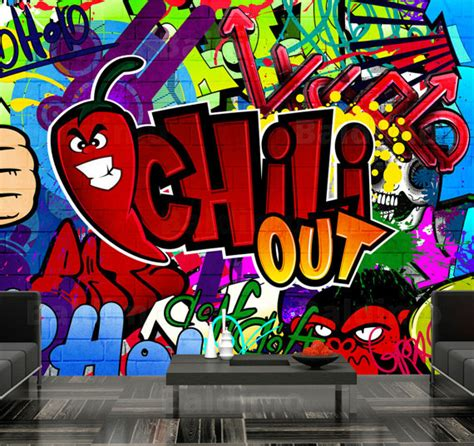 Chill Out Graffiti Wallpaper | photo wallpaper wall murals non woven graffiti chill out