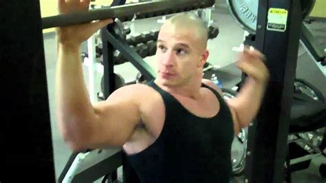 vin diesel bench press shoulders smith machine behind the neck press