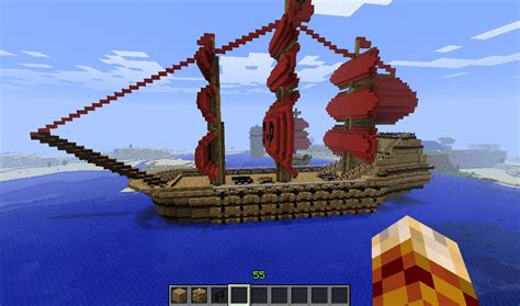 big boat in minecraft large old boat minecraft project