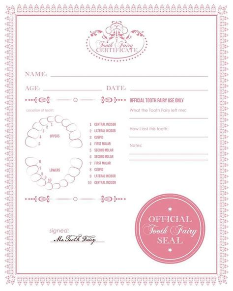 free printable tooth certificate template 25 best ideas about tooth note on tooth