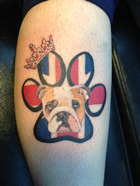 britishbulldog pup tattoo english bulldog tattoos