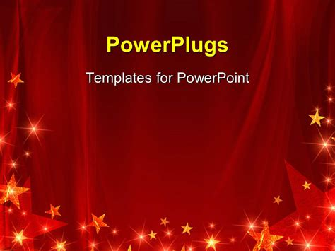 Powerpoint Template Red Celebration Background With Celebration Templates