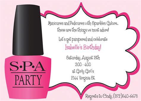 spa birthday invitation template ooh la la spa birthday invitation includes