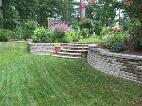 sloped backyard retaining wall retaining wall for sloped yard