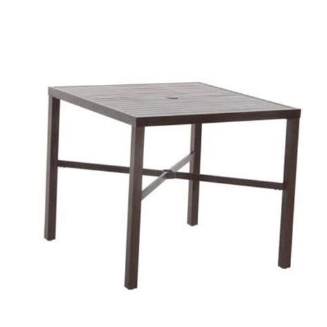 High Patio Dining Table Hton Bay Millstone 40 In Square Patio High Dining Table Fta70036g The Home Depot