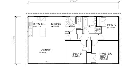 Houseplan With Front Kitchen by 3 Bedroom Transportable Homes Floor Plans