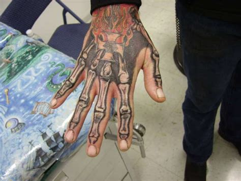 skeleton hand tattoo designs skeleton