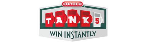 conoco tank5 instant win game 2017 play for a chance to win - Tank 5 Win Instantly