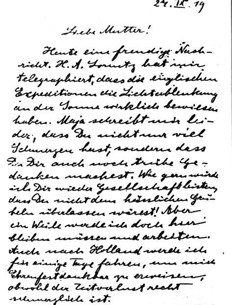Exemple De Lettre En Allemand A Un Ami Histoire De La Gravitation Einstein