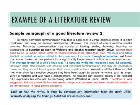 how to do review of literature in a research paper writing a literature review a guide