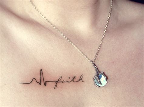 heartbeat tattoo faith 8 heartbeat tattoo designs that are worth trying