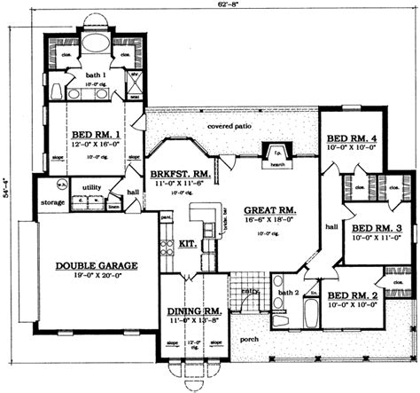 monsterhouseplans com country style house plans 1784 square foot home 1