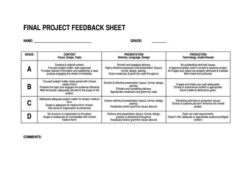Final Project Grading Rubric Intro To Multimedia