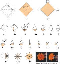 How To Make A Easy Origami Flower - direction easy origami 171 embroidery origami
