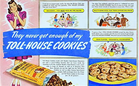 toll house recipe dying for chocolate toll house cookies vintage ad original recipe