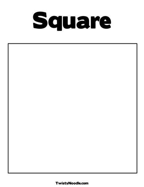 7 best images of square shape template printable square