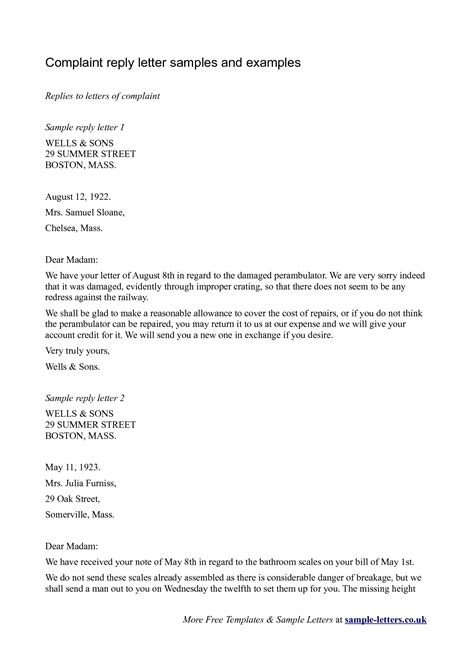 Letter Of Response To Business sle business reply letter the best letter sle