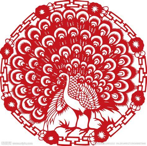 new year paper cutting template 孔雀 剪纸 孔雀剪纸矢量图 图片素材 其他 矢量图库 昵图网nipic
