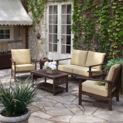 Wood outdoor furniture sofa and table online meeting rooms