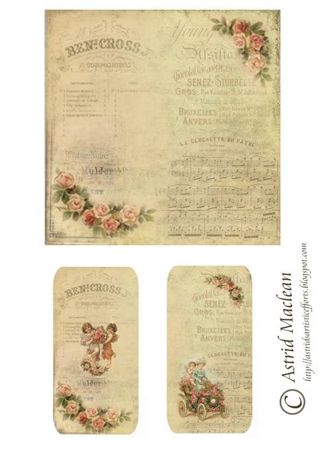 Free Printable Decoupage - 17 best images about vintage printables on