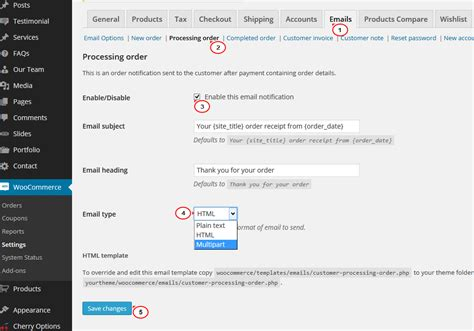 Woocommerce How To Enable Order Confirmation Emails Template Monster Help Woocommerce Order Confirmation Email Template