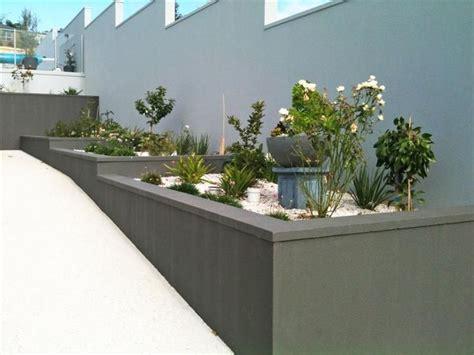 Cement Rendered Retaining Wall My Tropical Garden Rendered Garden Walls