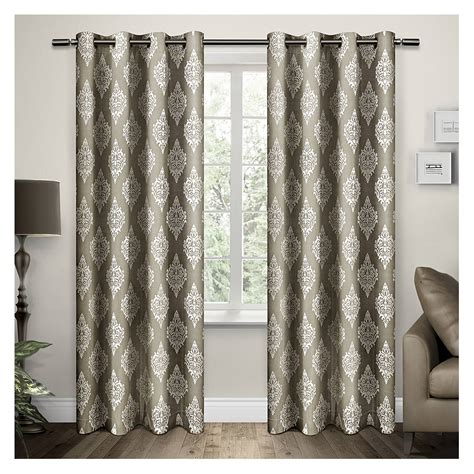 damask drapery panels exclusive home damask curtain panels set of 2 panels ebay