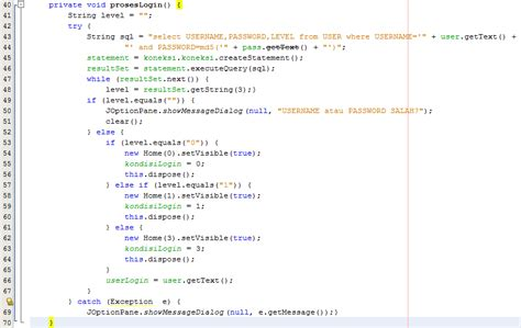 membuat aplikasi login sederhana menggunakan java netbeans membuat form login user pada aplikasi desktop minimarket
