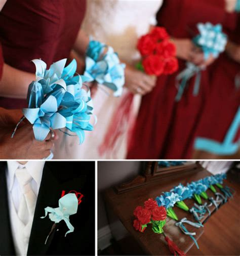 Diy Origami Bouquet - wedding invitations cake toppers origami bouquets