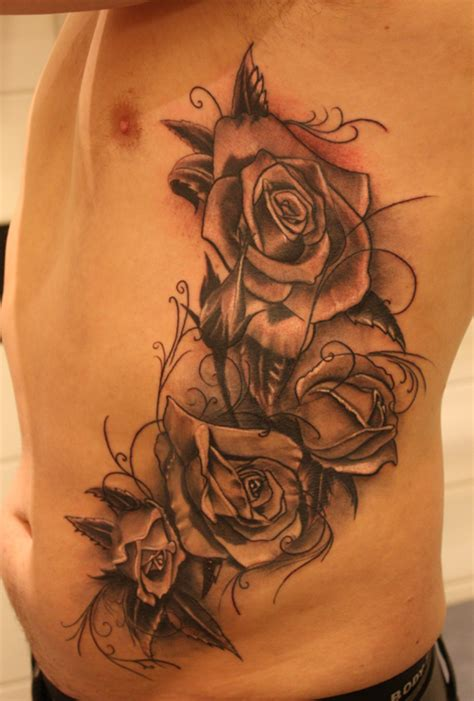 rose rib cage tattoos roses on ribs by jrunin on deviantart