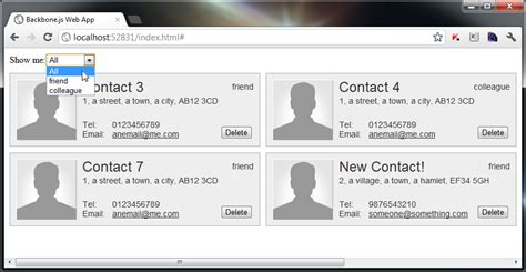 backbone js layout manager build a contacts manager using backbone js part 3