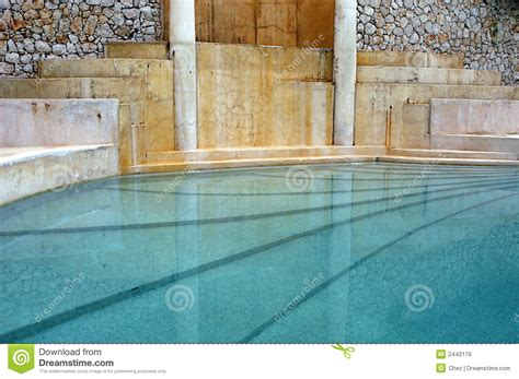 night view of roman style swimming pool with deck jets roman greco style indoor pool royalty free stock image