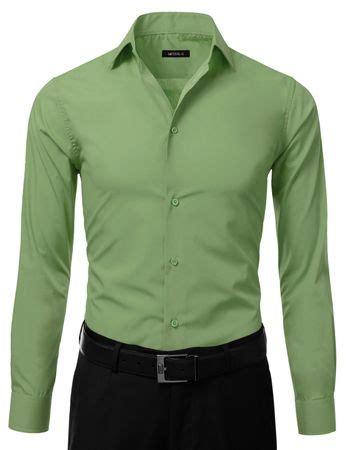 Slim Fit Shirt S S Contempo mens slim fit dress shirt lime green button ellissa