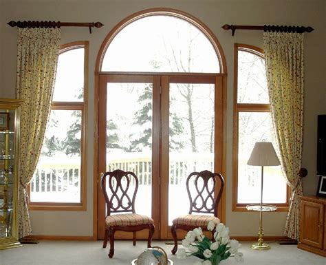 Arched french doors shades prefab homes sweet curtains arched french doors