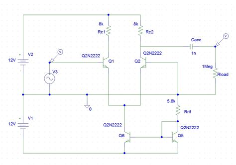 bjt transistor in pspice bjt differential lifier output saturation electrical engineering stack exchange