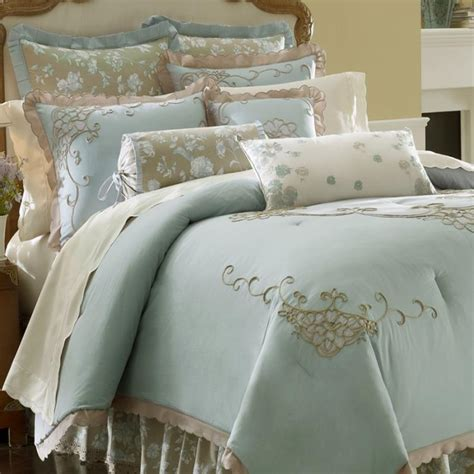 lenox comforter lenox rutledge embroidered king 4 piece comforter bed in a