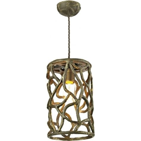 Small Pendant Lights Uk Small Cocoa Gold Ceiling Pendant Light In Twig Design
