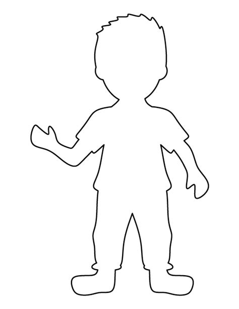 Boy Template boy pattern use the printable outline for crafts