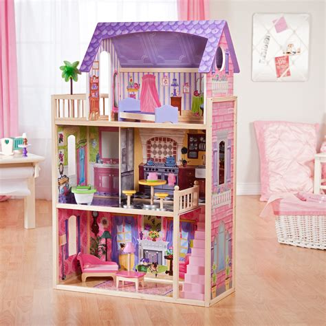 kid kraft doll house kidkraft kayla dollhouse 65092 at hayneedle